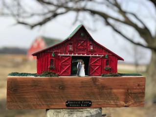Barn Plaque Wedding Keepsake