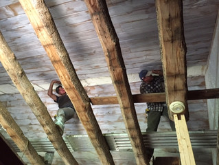 New Vaulted Ceiling in Cabin