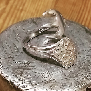 silver pickle fork ring