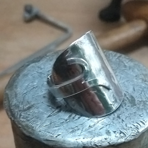 Silver Spoon Ring with Split band