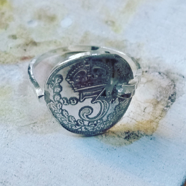 sterling silver 3d ring