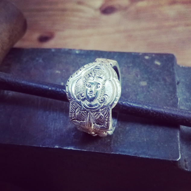 thai silver teaspoon ring