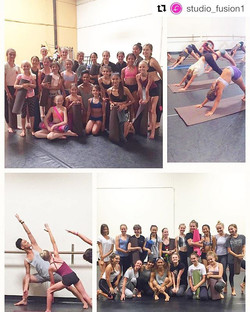 Thanks for the opportunity to work with your company dancers _studio_fusion1 !!! Glad to be back and