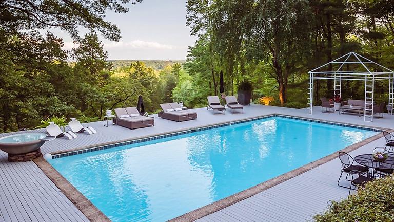 Poolside Yoga and Mimosas