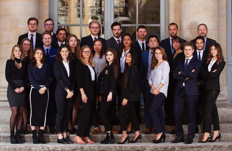 Promotion 2018 - 2019 du Master 2 Juriste Fiscaliste de Paris Descartes (Paris V)