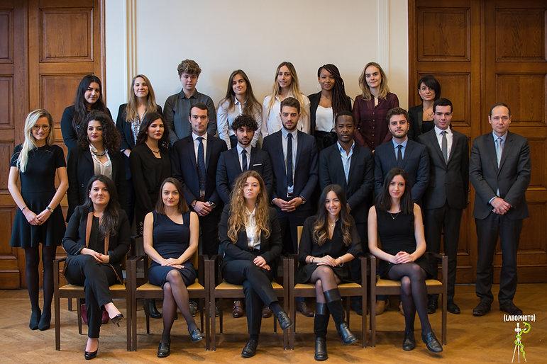 Promotion 2017 - 2018 du Master 2 Juriste Fiscaliste de Paris Descartes (Paris V)