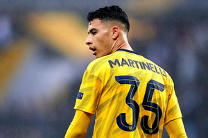 Gabriel Martinelli playing in the Europa League for Arsenal