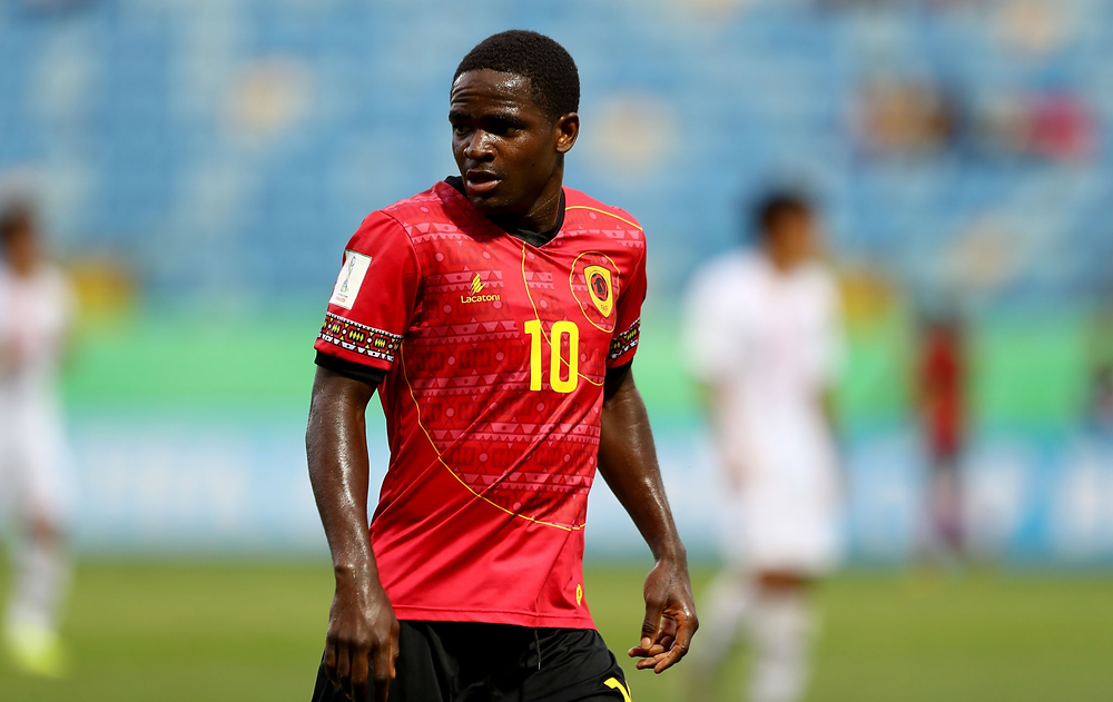 Zito Luvumbo playing in the Under-17 World Cup for Angola