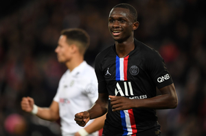 Tanguy Kouassi playing for PSG