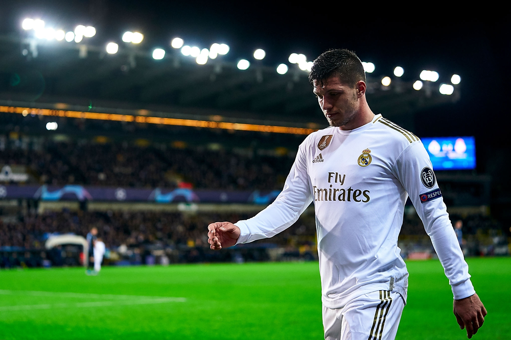Luka Jovic at Real Madrid playing in the Champions League