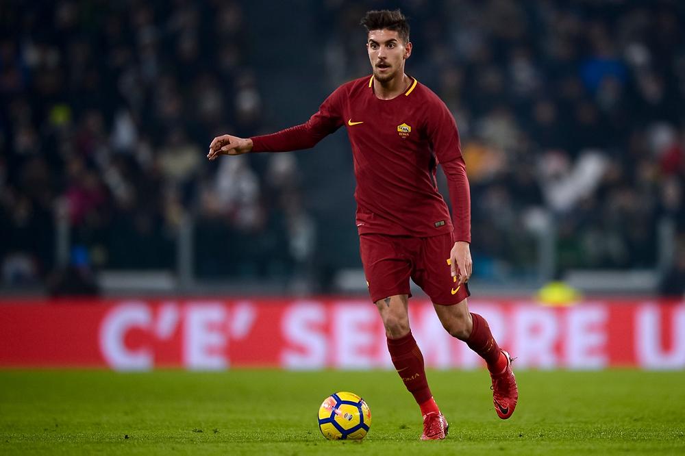 Lorenzo Pellegrini playing in his first season at Roma