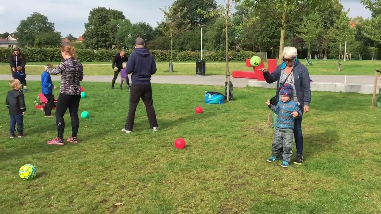 Familiebold i lokal park