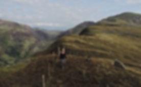 Walking above the Llambess Pass