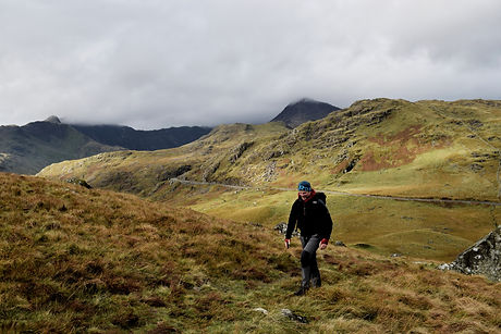 Heading up to Moel siabod