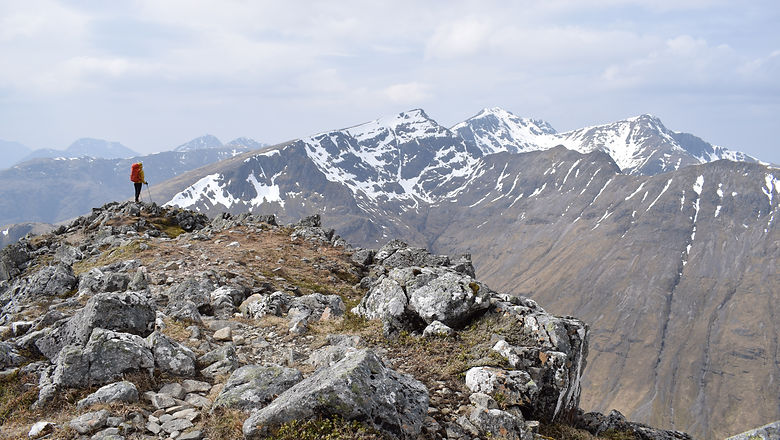 Looking out from the summit of Stob Coire Raineach