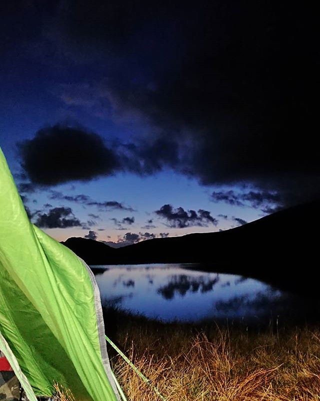 Camping near Llyn y Cwn on a navigation course.
