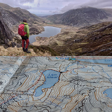 Standing above Llyn Idwal