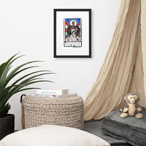Temperance | Bohiti Tarot Framed Poster With Mat