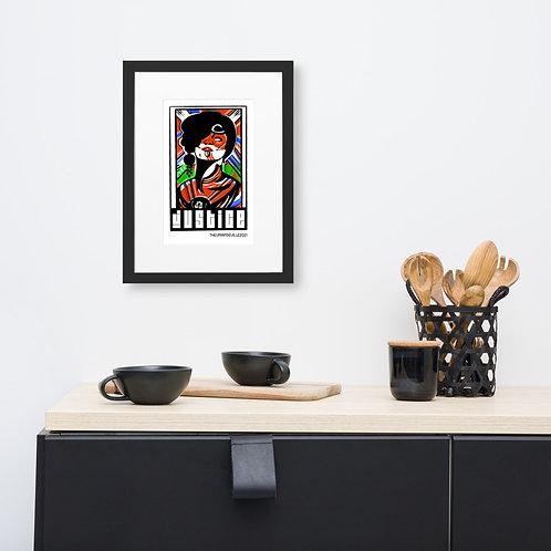 Justice | Bohiti Tarot Framed Poster With Mat