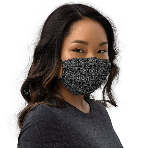 The Patterns Black Premium Face Mask