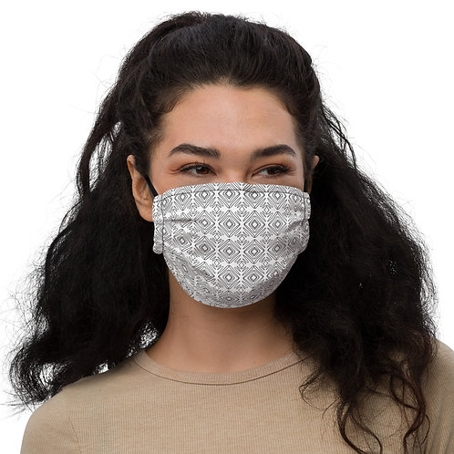 The Patterns White Premium Face Mask
