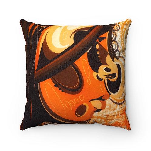 """""""La Vida""""   Faux Suede Square Pillow"""