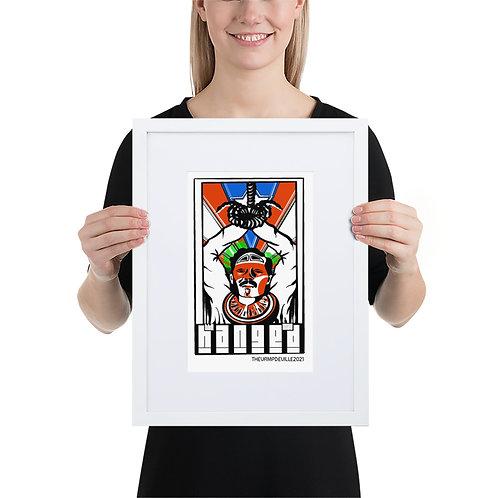 The Hanged Man   Bohiti Tarot Framed Poster With Mat