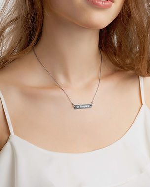 engraved-silver-bar-chain-necklace-black