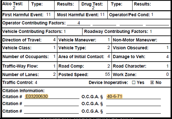 Police Report Citation and Ticket Inform