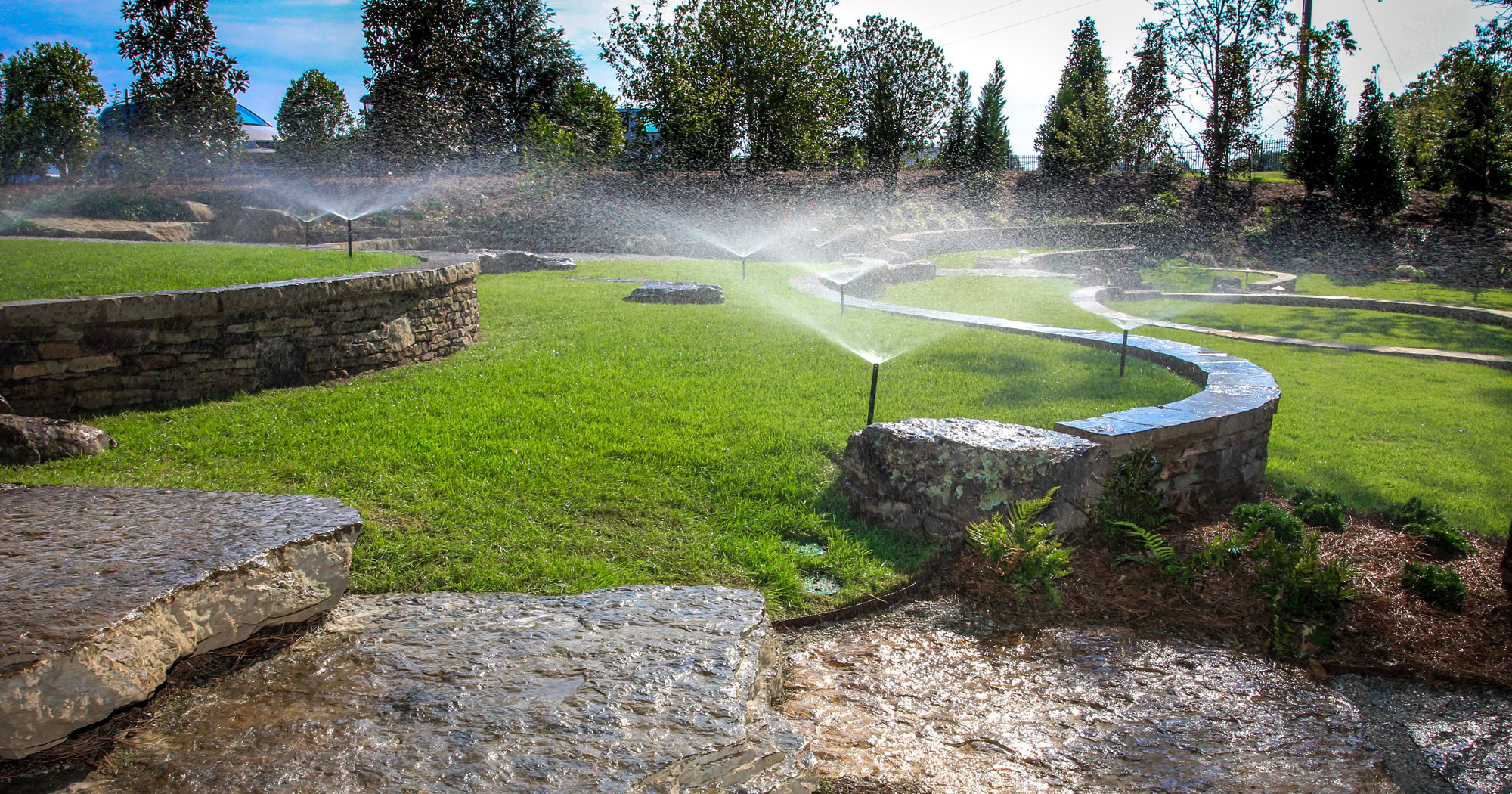 Irrigation-spray heads