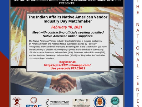 Native American Vendor Industry Day!