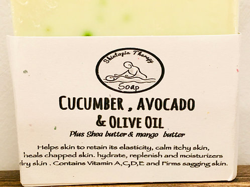 Cucumber, Avocado and Olive Oil Soap Bar