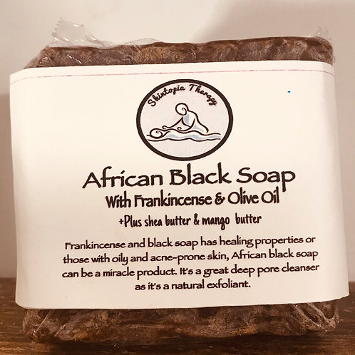 African Black Soap With Frankincense & Mango Butter