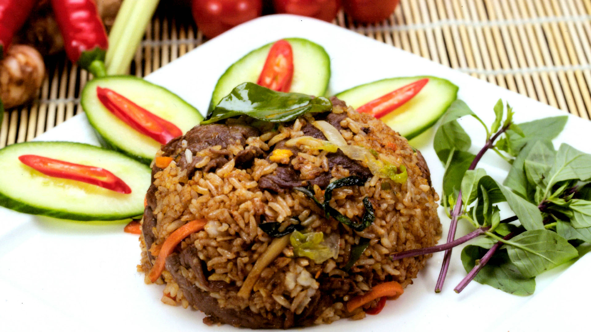 Beef Chilli Basil Fried Rice