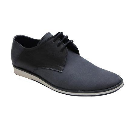 Zapato Adriano Azul en Cuero Nobuck