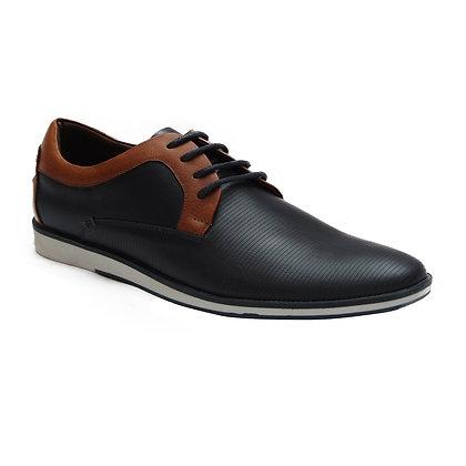 Zapato Paolino Azul Oscuro en Cuero