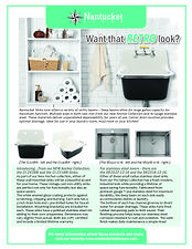 Want that retro look - laundry basin sin