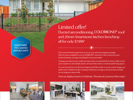 Limited offer! Colorbond, Stone and Ducted Air for $7,999