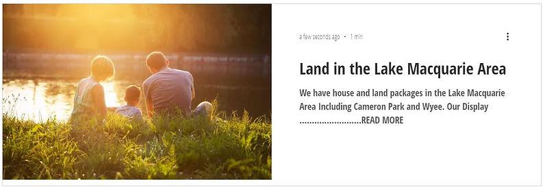 Land in Lake Macquarie.JPG