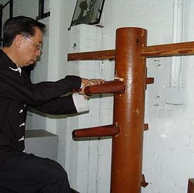 Wing Chun Dummy and Sifu