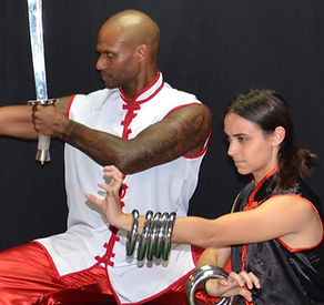 Martial art Iron rings saber weapons