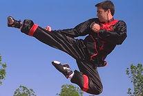 Kung fu flying side kick