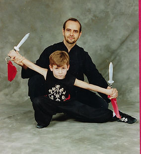 Father and son kung fu daggers