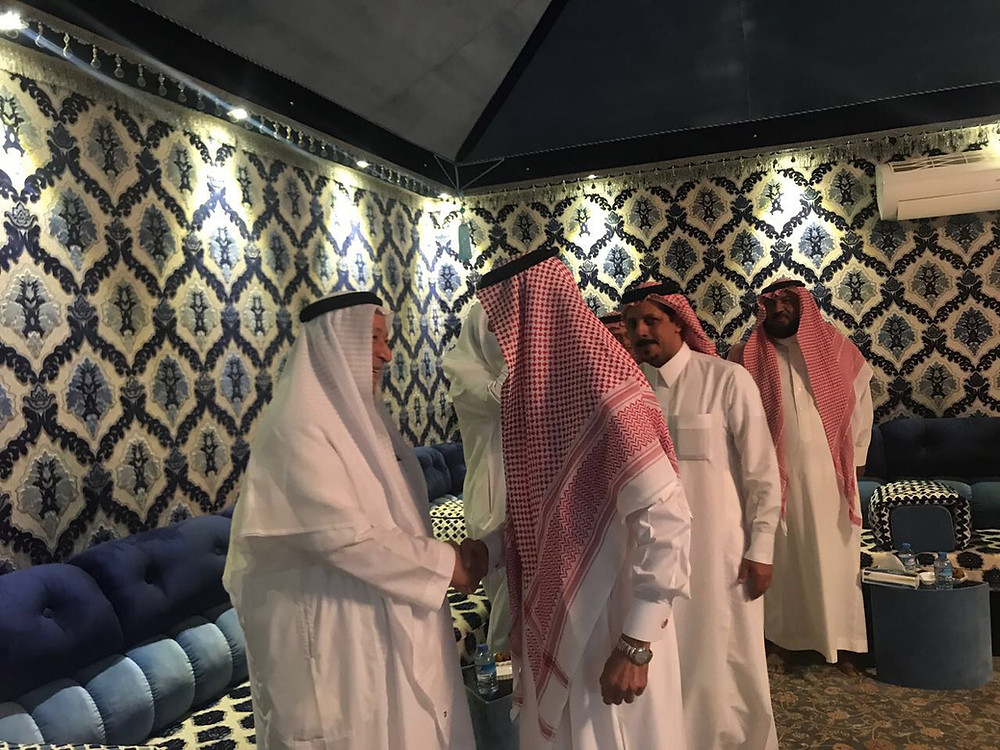 الشيخ محمد بن صالح حلواني يستقبل امين محافظة الطائف المهندس محمد الهميل