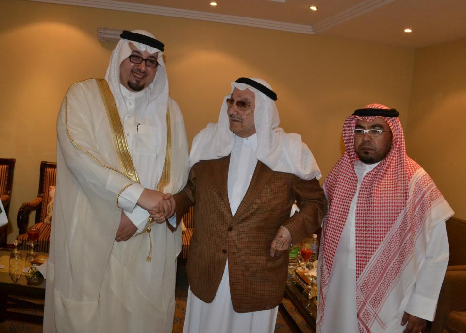 مع الامير طلال بن عبدالعزيز