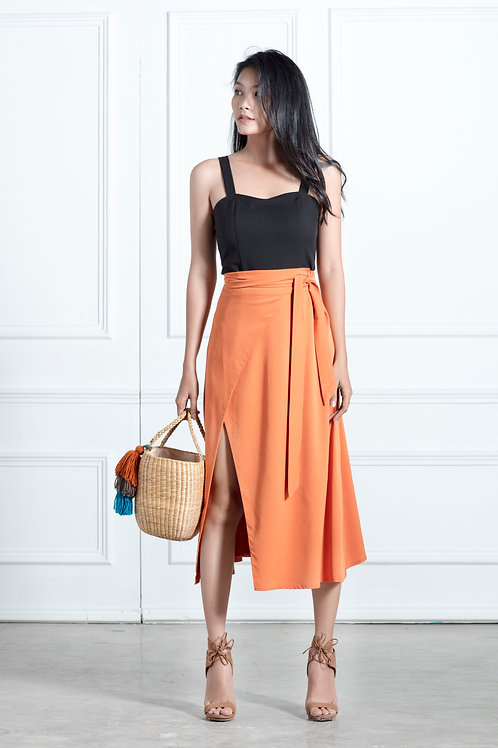 Wrap Skirt - Sandstone Orange
