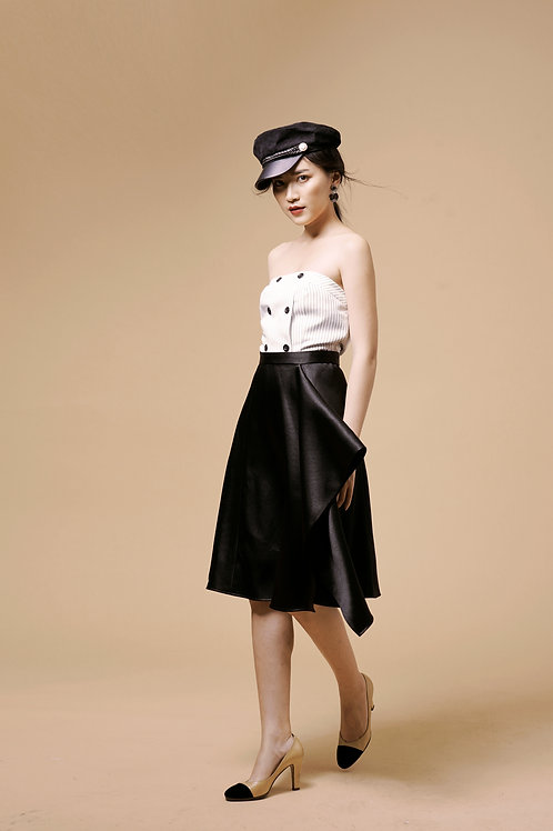 Tafta Skater Skirt - Black