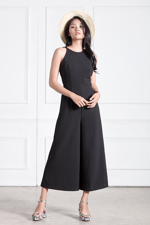 Backless Jumpsuit - Black