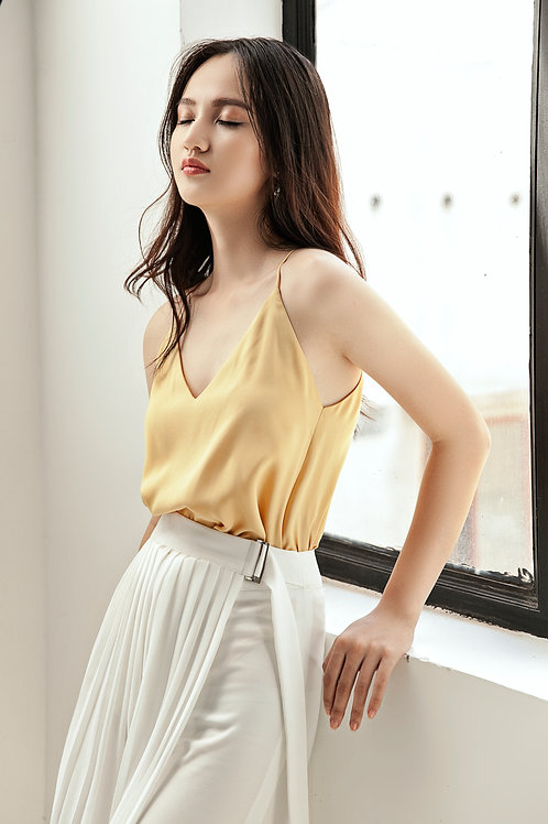 Silk Tank Top - Yellow Canary