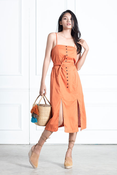 A Line Dress - Sandstone Orange